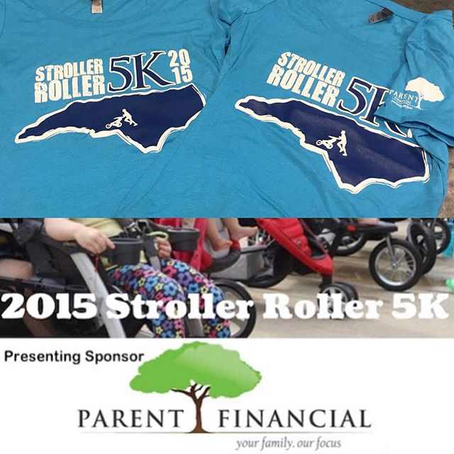 And another 5k we're thrilled to be a part of this weekend - thanks for keeping us in the know @scoopcharlotte.  #tshirts #strollerroller #strollerroller5k #parentfinancial #nextlevelapparel #dunstangroup