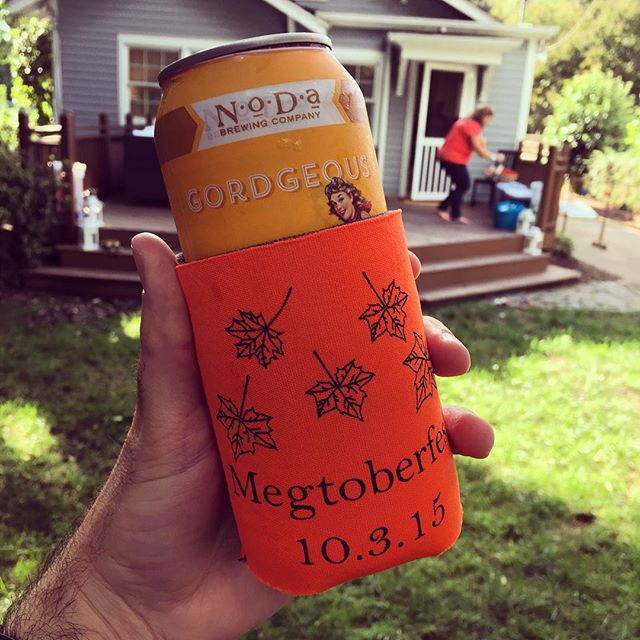 The perfect blend of @nodabrewing and #customkoozie!  #nodabrewing #dunstangroup #customeverything #charlottenc #pumkinale #nodagordgeous