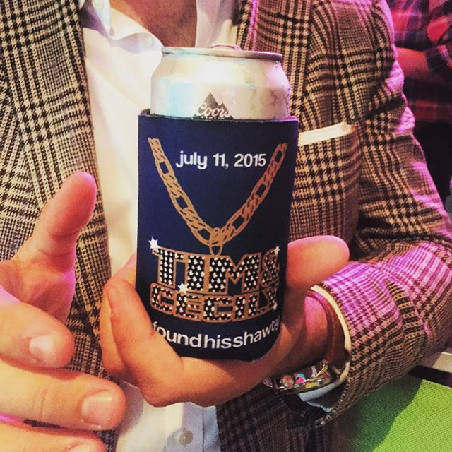 @ashelyd.hurteau said she wanted #BLING so we made it BLING.  #coolkoozieproject #dunstangroup #koozie #partyfavors