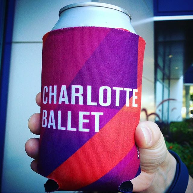 Fully custom koozies... Looking good @cltballet!  #dunstangroup #fullycustom #charlotteballet#customeverything @melissa.curlin #repostThese sweet Charlotte Ballet Koozies will make their debut Tuesday night at our takeover of #OMByogaontap.  Class starts at 6:30 PM but the first 250 get a Koozie so don't forget to pack your yoga mat tonight!