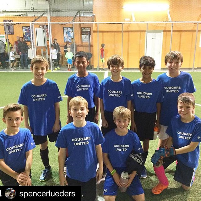 Sharp looking crowd right there!  Happy to help where we can and thankful for you @spencerlueders!  #dunstangroupRepost @spencerlueders・・・Starting 2016 with a Cougars United win! Thank you @dunstangroup for the jerseys and support for the team! #indoorsoccer #weloveclt