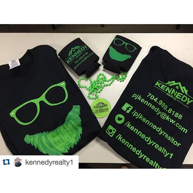 "Thanks for the shout out @kennedyrealty1 !  Best of ""luck"" this weekend.  #charlottenc #realestate #dunstangroup#Repost @kennedyrealty1・・・Check out the new swag we've got to hand out tomorrow at the Charlotte Saint Patrick's Day parade! Huge thanks to the @dunstangroup for hooking us up! Get it while it's hot! Can't wait to see you all there! #PROVEIT #KW #kennedyrealty #theballantynedifference #sunglasses"