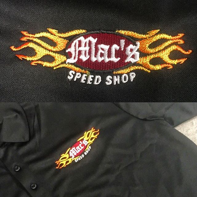 So fresh, so clean.  #quality #uniforms #logowear #bbq #macsspeedshop #dunstangroup #embroidery