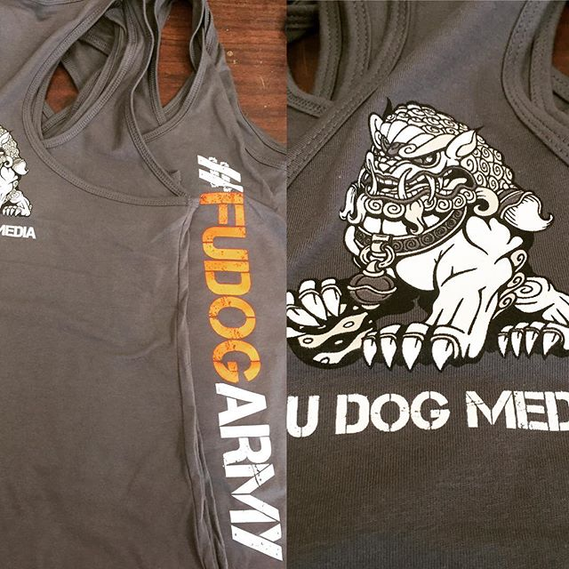 Our friends @fudogmedia new tanks are looking rad!  #racerbacktank #fudogarmy #charlestonsc #dunstangroup #