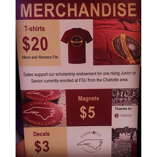 How do you generate revenue for your club or organization? Merchandise is a great opportunity to raise $ while marketing your brand! #dunstangroup #followback #promo #marketing #merchandise #good #follow #club #organization #tshirt #seminoles @charlotteseminoleclub