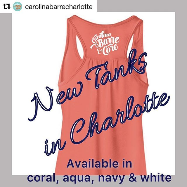 Love these new tanks we did for @carolinabarrecharlotte ! #Repost @carolinabarrecharlotte・・・Come in and grab one of our new, super cute CBC tanks!  4 colors- all sizes available today.  Don't wait, they won't last long!  Thx The Dunstan Group for coming through again!  #cbc #charlotte #barre #community #summer @dunstangroup @sfdunstan @macleanh