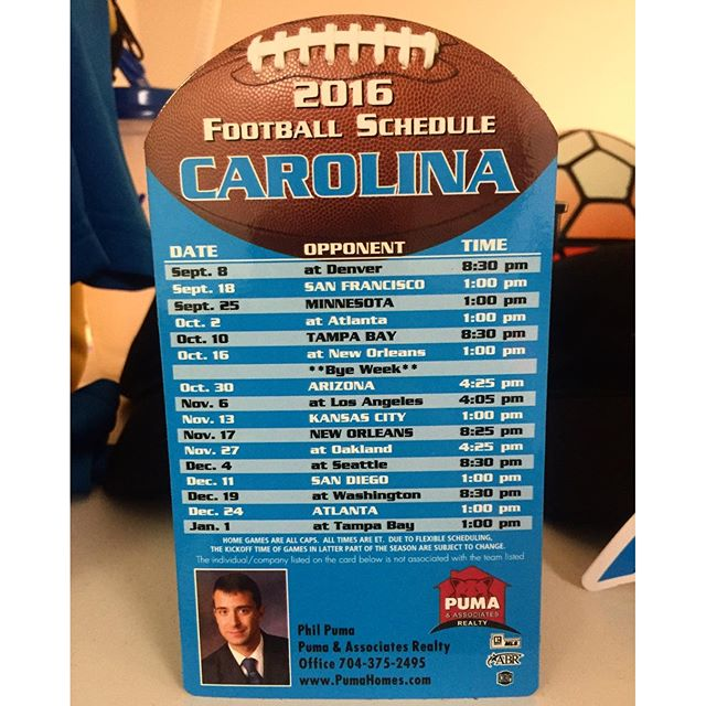 Who's ready for some football??? Magnets are a great and inexpensive way to add value and stay in front of the crowd that matters to you.  Looking good @pumaandassociates!  #schedulemagnets #football #dunstangroup