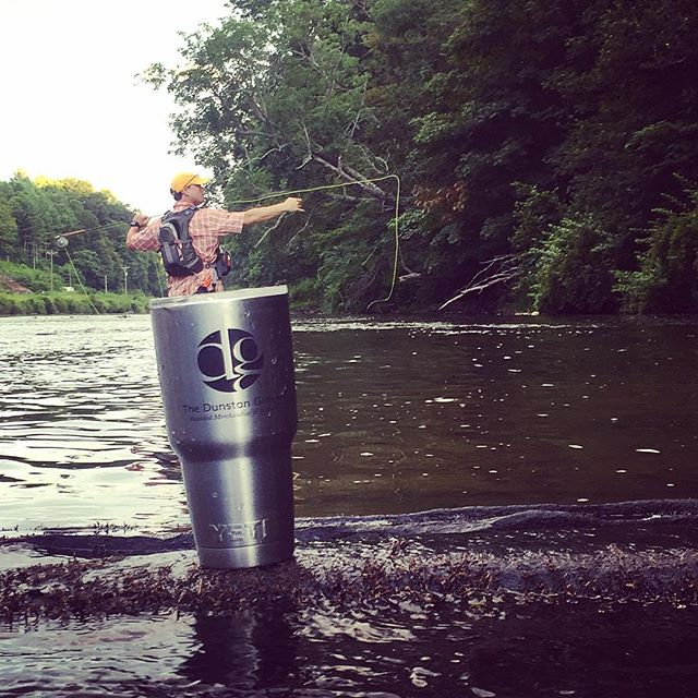 Keeping it cool with #yeti and @spreadx1.  #nc #flyfishing #dunstangroup #customyetis