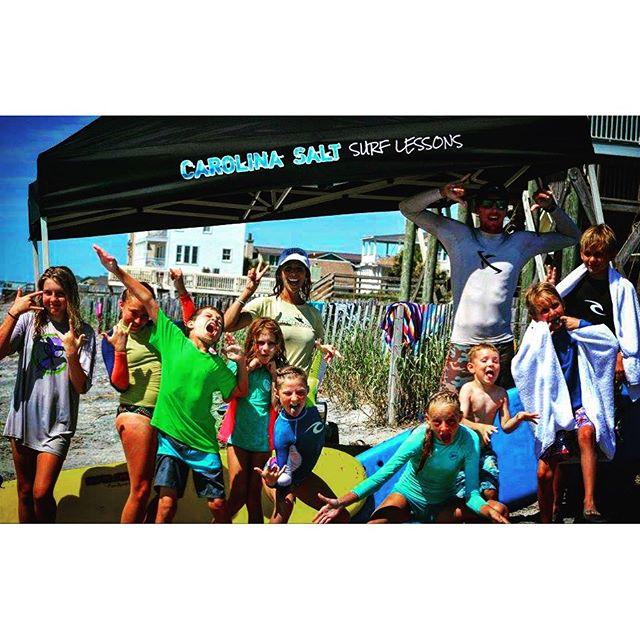 Need Surf Lessons? Check out our friends at @carolina_salt_surf_lessons in Charleston, SC! #CustomTent #surf #dunstangroup