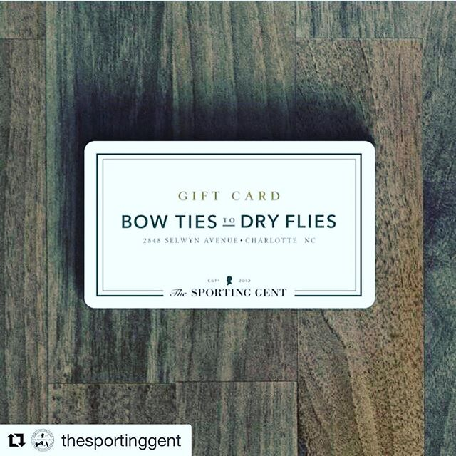#Repost @thesportinggent・・・Introducing the antidote to getting stumped on the perfect gift | #thesportinggent #bowtiestodryflies #shopsmall