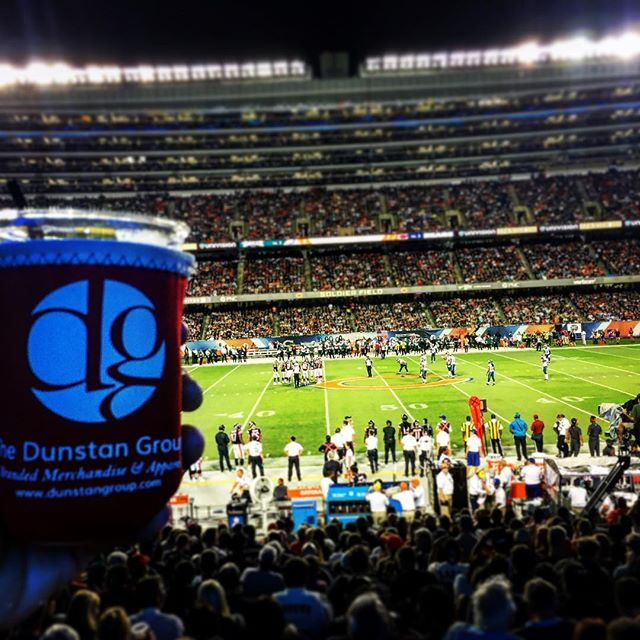 DG Koozie made it to Chi-town for #MNF #soldierfield #CustomKoozie #DunstanGroup