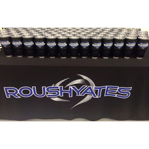 Now, that is good looking @roushyatesengines!  Our new alternative to Yeti tumblers are available in black as you see here with multi-color, super detailed print capabilities.  #racing #dunstangroup #roushyates