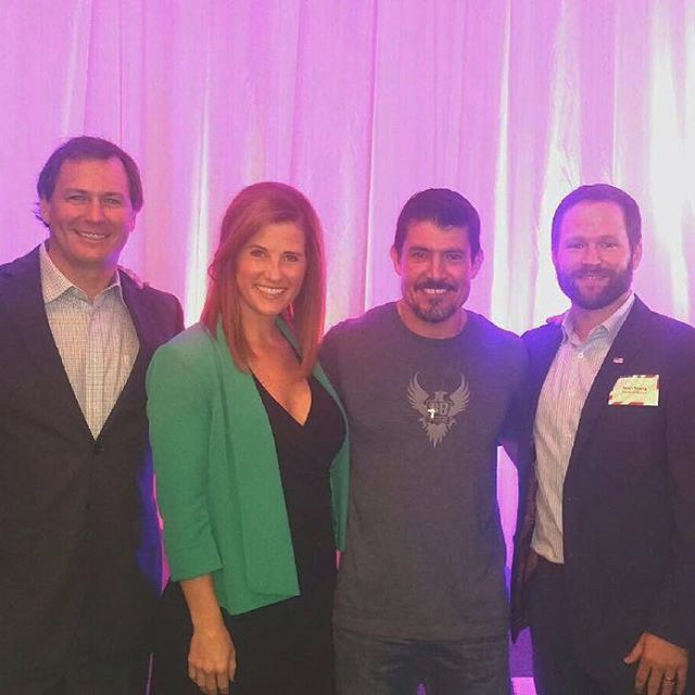 "An American HERO who has mastered the #neverquit mentality, Kris ""Tanto"" Paronto enlightened us on the #13hours he and his team fought terrorists in Benghazi.  Thank you for your service and for sharing the facts with us!!! #America #Freedom  #thankyou #armyranger"