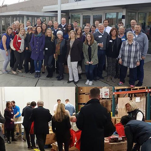 Great morning serving others @secondharvestfoodbank_eci and @crisisassistmin here in Charlotte.  We packed 1100 backpacks with food for children in need.  #tistheseasonforgiving
