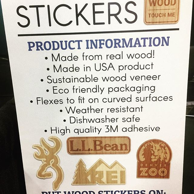 Brand new for 2017!  How can we incorporate the #woodsticker into your marketing message?  #ideaboard #sticker