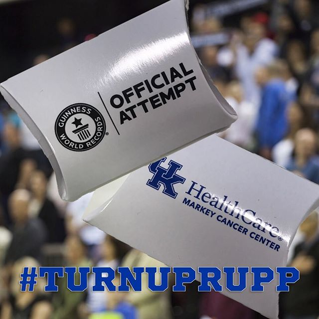 These little bits from The Dunstan Group are part of the University of Kentucky Guinness World Record attempt tonight! @universityofky @guinnessworldrecords
