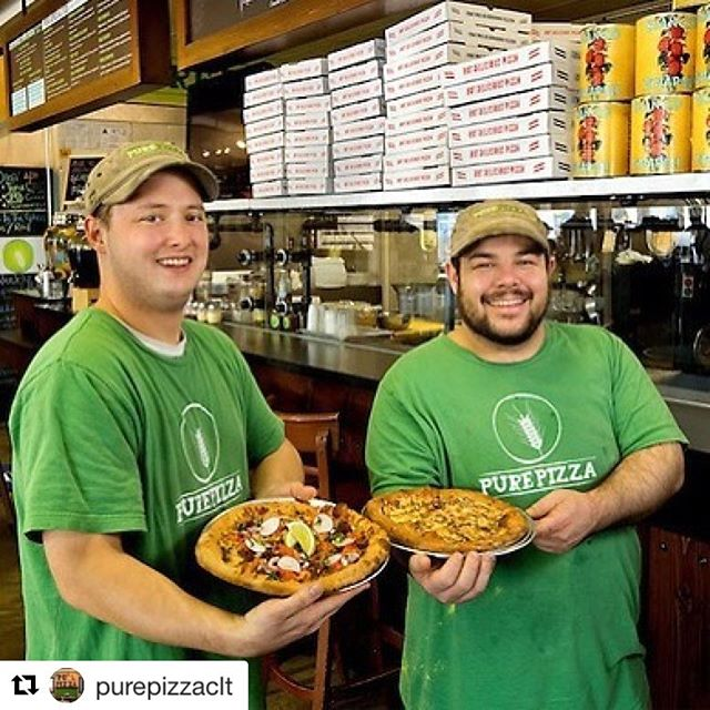 In honor of #nationalpizzaday, check out our friends at @purepizzaclt !  #charlotte #lovepizza #pizza#Repost @purepizzaclt・・・Pizza should always begin & end with a smile  #pizza #CLT #clteats #cltfood #foodie #keepitpure