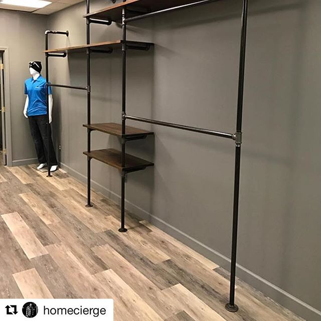 We're thrilled, looks great @homecierge!  Can't wait to fill this with fun swag.  You the man!#dunstangroup#Repost @homecierge ・・・Black Pipe Shelves #carpenter #art #woodenvy #shelving #display #cool #iwantthat #creativestorage