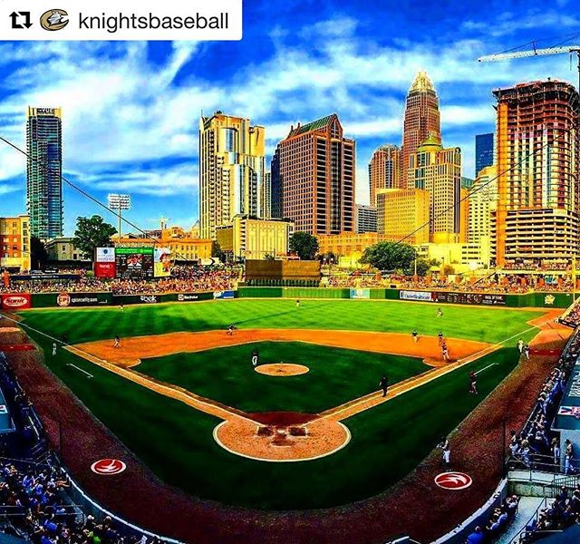 Best of luck this season to our friends over at @knightsbaseball who are also proud members of the #hoodhargettbreakfastclub #OpeningKnight is April 6th. Do you have your tickets? #bbtballparkclt #KnightsBaseball #charlotteknights