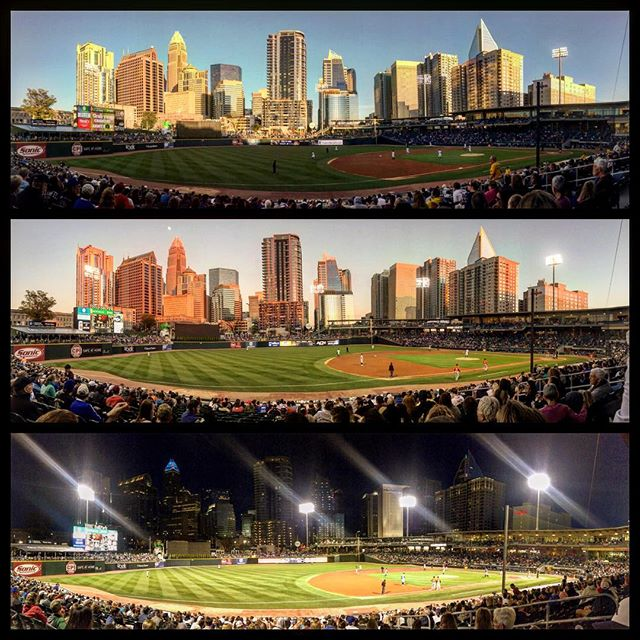 One of the best views in town and a really exciting @knightsbaseball team to watch!  #charlotteknights #DunstanGroup #whataview ....#KnightsBaseball #Charlotte #Sunset #Uptown #Love #clt