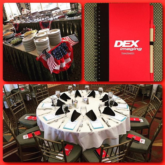You don't know DEX! Awesome event this morning and thanks to @deximaging for being our sponsor at the @hoodhargett breakfast club! #NiceJournals #DunstanGroup....#hoodhargettbreakfastclub #carmelcc #Charlotte #customeverything #love