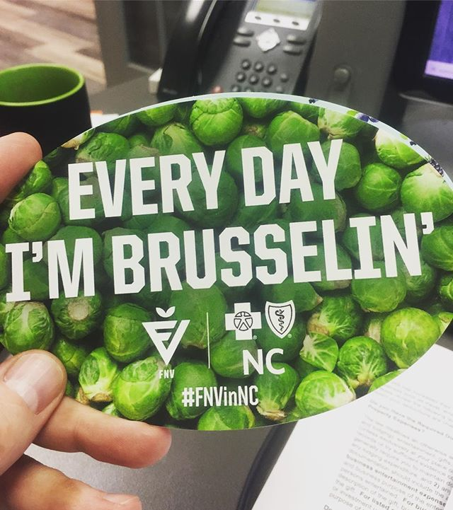 How do we make vegetables fun?? Teamed up with our friends at BESPOKE Sports & Entertainment and rolled these new stickers out... ...#FNVinNC #marketing #sticker #dunstangroup