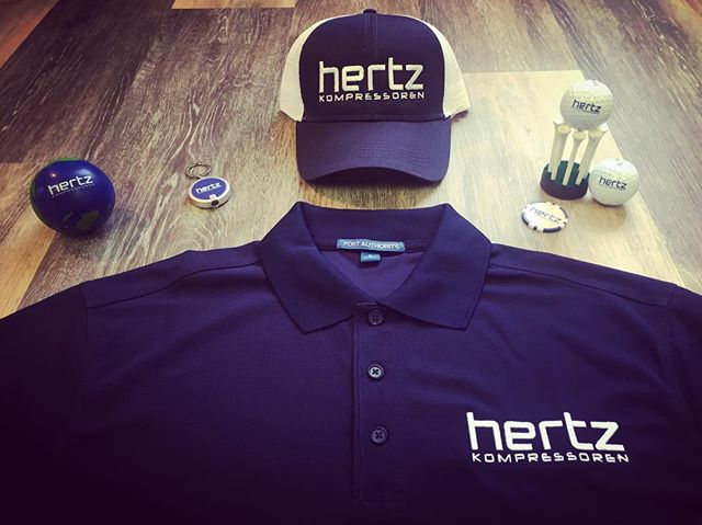Building the future in every moment of your business! A great message and some fresh company gear for our friends over at @hertzkompressoren #companyswag #customeverything #Dunstangroup....#charlotte #swag #companyapparel #Polo #Hat #Stressball #Keychain #golfballs #pokerchip