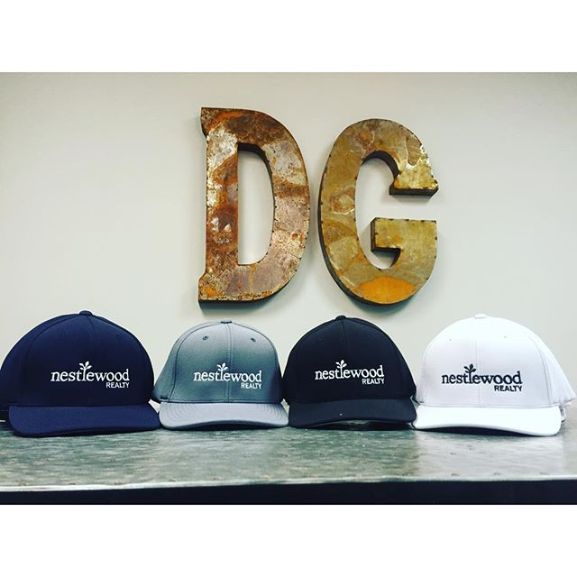 We need to connect @nestlewood.  Your fresh new lids are looking sharp!  @runnerwino @schein_strong #nestlewoodrealty #dunstangroup #headwear #pacificheadwear #embroidery