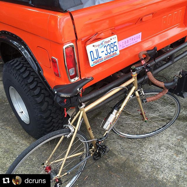 When our 2:00 shows up on a bicycle and there is no formal rack.  #dunstangroup #LIBSTRONG#Repost @dcruns・・・#bikeparking @dunstangroup Get to work!