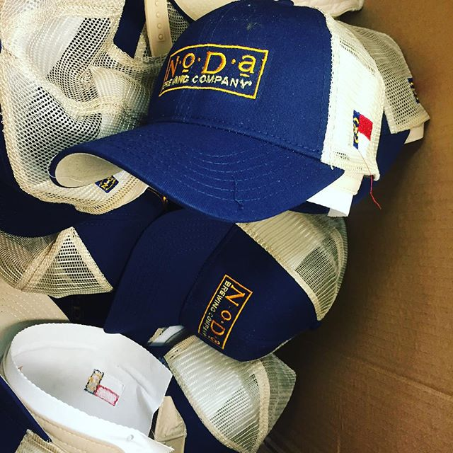 Getting ready for cleanup, the final step!  #truckercap #dunstangroup #embroidery #customeverything #charlottenc #nccraftbrewers