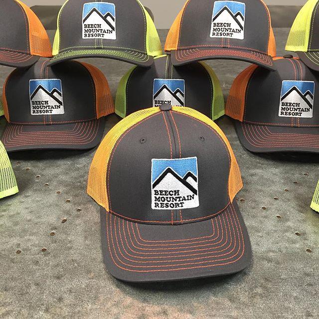 Fresh new caps on the way @beechmtn!  #truckerhat #dunstangroup #beechmtn #embroidery