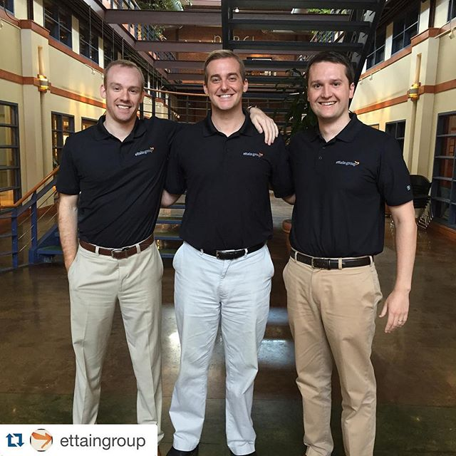 Looking sharp guys!  #ogio #ogiogolfshirt #dunstangroup #embroidery #performancegear #customizedpolo #repost @ettaingroup ・・・The black polo was a popular option for casual Friday!