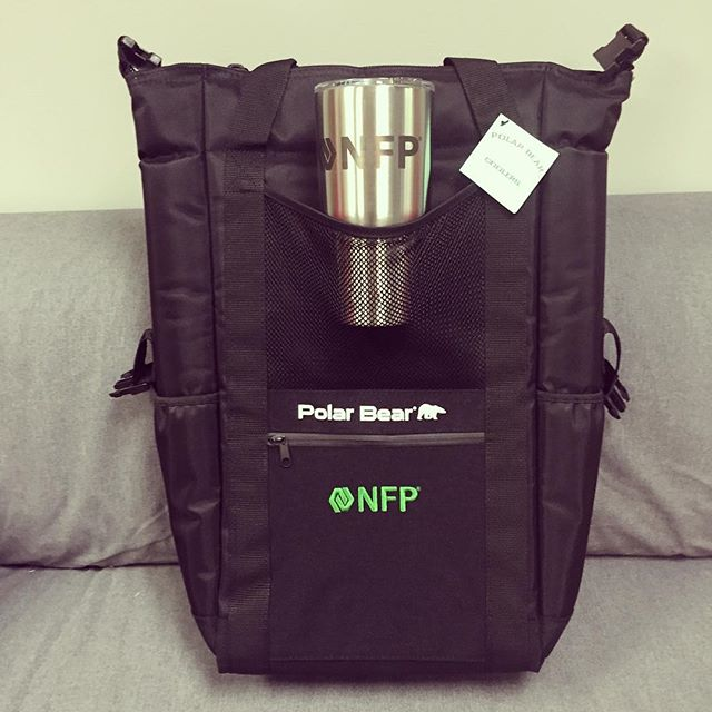 Tailgaters package! @polarbearcoolers back pack cooler and custom #yetirambler .  #nfp #dunstangroup #charlottenc
