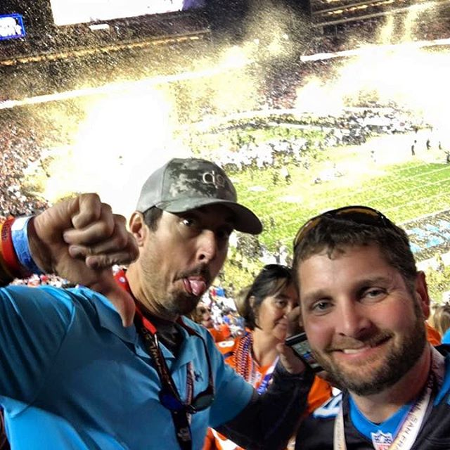 Thanks for repping our gear at #SB50.  Not the outcome we wanted but honored to be a part of this memorable event!#keeppounding #superbowlfifty #dunstangroup
