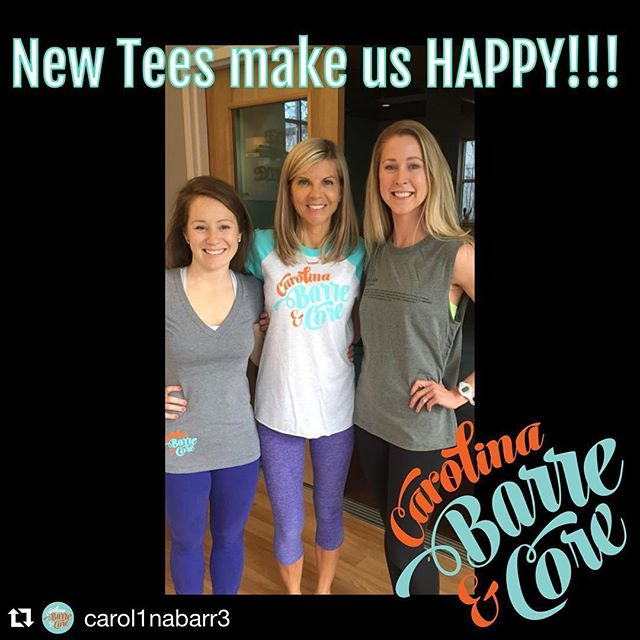 "@carol1nabarr3 - ditto!  They make us happy too!  #thanksfortheshoutout #dunstangroup  #repost @carol1nabarr3 Some of ""the girls of CBC"" represent in their new logo tees made for us by The Dunstan Group.  Love these girls and love these tees!! #lifeisgood #barre #charlotte #cbctees @sfdunstan @macleanh @dunstangroup @haleymcgahey  @apeery @stacyswalker"