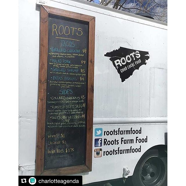 Nice shout out to our friends @rootsfarmfood!  #rootscatering #Repost @charlotteagenda・・・Roots had some of the city's original food trucks, but if you feel like you haven't seen them in a while, there's a reason - they've sold two of the three trucks and pivoted to catering, meaning they're now only available for private events like weddings. Why? Less risk, more rewards and it's a natural evolution for the five year old company.