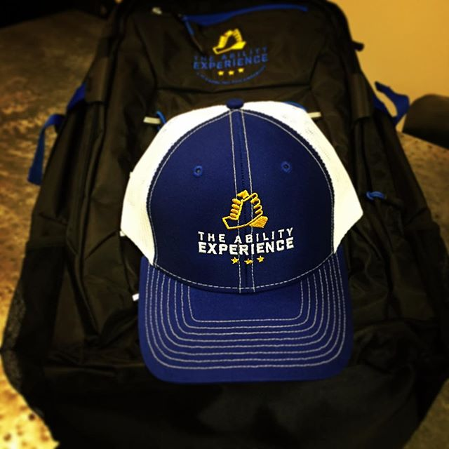 Looking great @abilityexp !! Check out this fantastic nonprofit organization that serves people with disabilities at www.abilityexperience.org #DunstanGroup #customhats #backpack