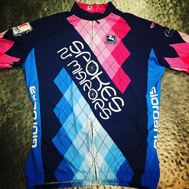 @24hoursofbooty Jerseys are here! Team Spokes N' Mirrors is ready to kick Cancers A$$ Friday! Special thanks to @moessouthwestgrill @smashburger @leroyfoxkitchen @cowbellburger @mortimersclt & @giordanacycling for providing these awesome Jerseys and thanks to everyone who has donated to this great cause #dunstangroup #24hoursofbooty #FightAsOne
