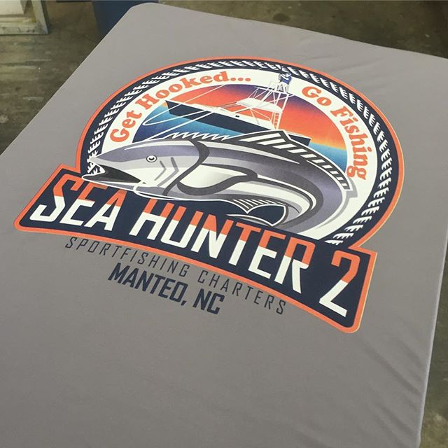 Hot off the press and wow that looks sharp @sea_hunter2!  #charterfishing #obx #tshirt #dunstangroup