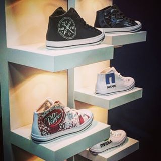 Making your brand stand out one step at a time! #CustomShoes #DunstanGroup #socialinmediappaiexpo