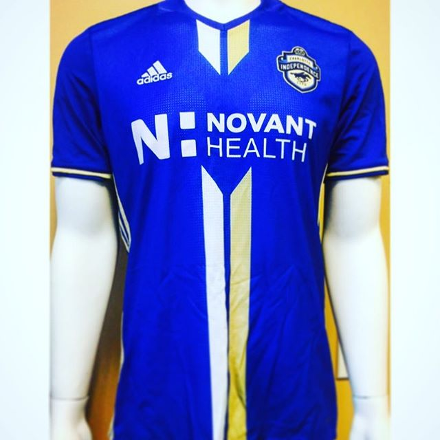 Now that is a nice looking jersey from our friends @novanthealth & @cltindependence ! Purchase yours today at www.shopcharlotteindependence.com #Charlotte #Independence #QueenCity