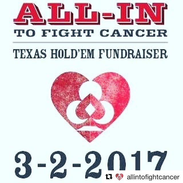 Who is excited for the @allintofightcancer poker tournament tomorrow?! #Repost @allintofightcancer with @repostapp・・・Mark your calendars! #ATFC https://goo.gl/uQ2eYk