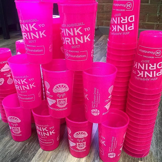 Fresh off the press for our 4th Annual @pinktodrink event happening this Thursday @sugarcreekbrewing @oldemeckbrew @gwrdistilling from 6 to 9 p.m.  The first 500 guests receive a cup at check-in!  DM us for event deets... #pinktodrink #24foundation #twentyfourward